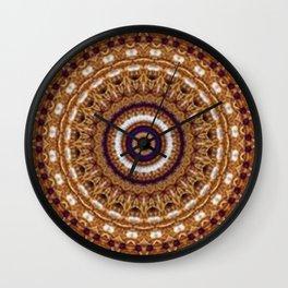 Mandala Pearls Art Wall Clock