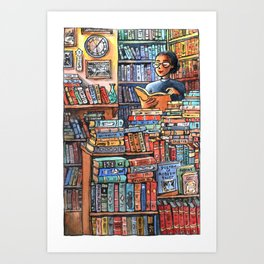 Bookshop Bliss Art Print