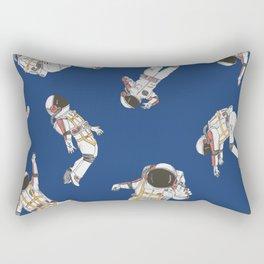 Blue astronaut social Rectangular Pillow