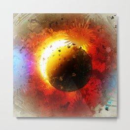Cartoon Universe Explosion Wallpaper Metal Print