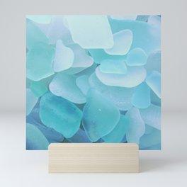 Sea Glass Ocean Blue Mini Art Print