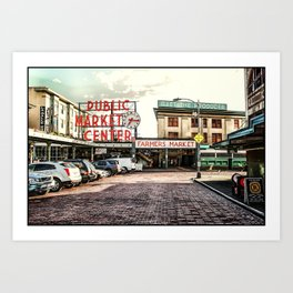 Seattle Pike Place Market Art Print