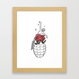 Th flowery bomb Framed Art Print