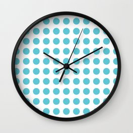 Simply Polka Dots in Seaside Blue Wall Clock