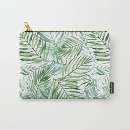 Watercolor palm leaves pattern Carry-All Pouch