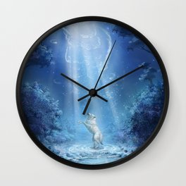 A wolf's tale Wall Clock