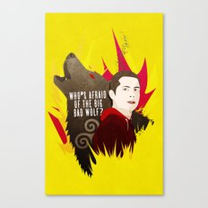 Sterek: Who's Afraid of the Big Bad Wolf? Canvas Print
