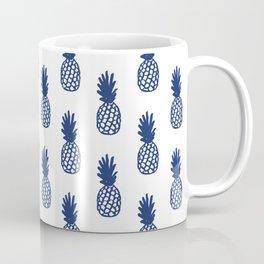 Navy Pineapple Coffee Mug