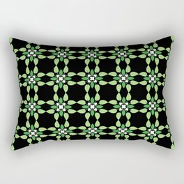Aromantic Pride Abstract Floral Checker Pattern Rectangular Pillow