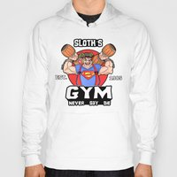 the goonies Hoodies featuring Sloth Gym Funny Goonies Fitness by Workout Quotes