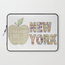 Hipster cool New York City Big Apple kitschy subway map wanderlust eighties travel logo print Laptop Sleeve