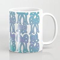 bows Mugs featuring Bows by Jessica's Illustrationart