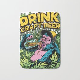 Drink Craft Beer Bath Mat