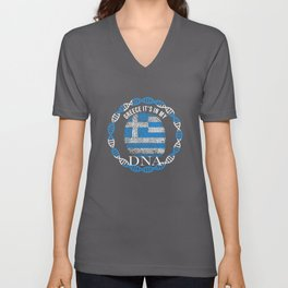 Greece Its In My DNA Unisex V-Neck