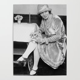Showing Her Flask - Hortense Rhea Poster