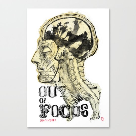 Out of Focus Thoughts Canvas Print