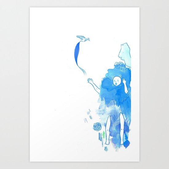 Nostalgia (Cool Colors) Art Print