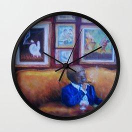 Jazz Club by Marianne Fadden Wall Clock