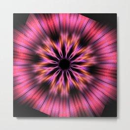 Fractal Multicolor Flower Metal Print