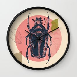 Blue Beetle Wall Clock