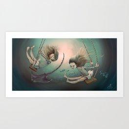 Swing Sisters Art Print