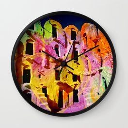 Ancient architecture psycadelic trip Wall Clock