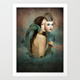 Linger in the Shadows Art Print