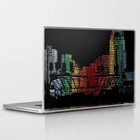 cincinnati Laptop & iPad Skins featuring Cincinnati Nights by Tambergal