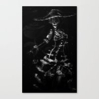 burlesque Canvas Prints featuring Burlesque by Zhjake