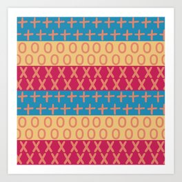 Abstract madras colors graphic pattern Art Print