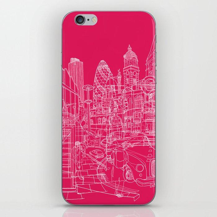 London! Hot Pink iPhone Skin