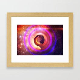 The Surreal Lighthouse at the End of the Universe Framed Art Print
