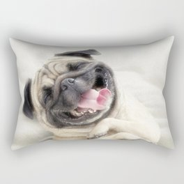 Smiling pug.Funny pug Rectangular Pillow
