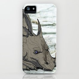 Grey Dragon iPhone Case