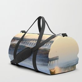Ocean Wave Storm Pier Duffle Bag