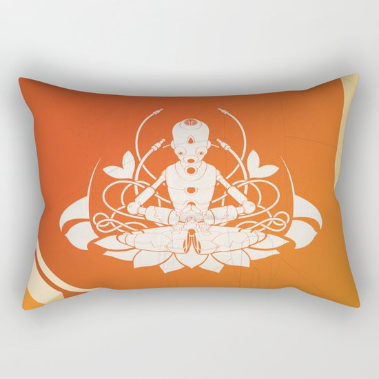 Opening the higher state of consciousness Rectangular Pillow