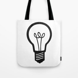 Simple Light Bulb Tote Bag