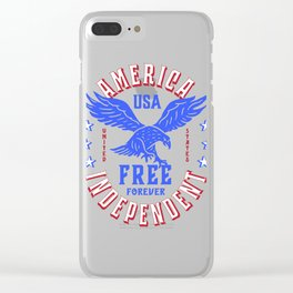 American Eagle Freedom Badge Clear iPhone Case