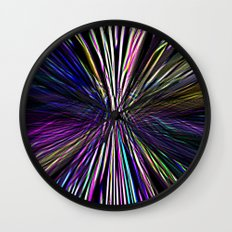 Re-Created  Supernova I by Robert S. Lee Wall Clock