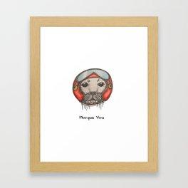 PHOQUE YOU Framed Art Print