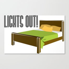 Lights Out! Canvas Print