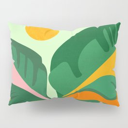 Things Are Looking Up 2 - Wide View / Tropical Greenery Pillow Sham
