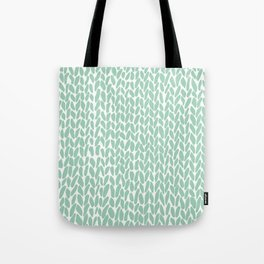 Hand Knit Zoom Mint Tote Bag