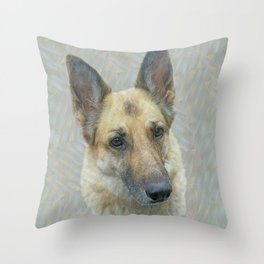 Unconditional Love Holly German Shepard Throw Pillow