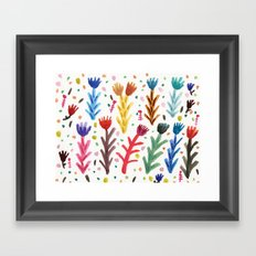Abstract Flower Pattern Framed Art Print