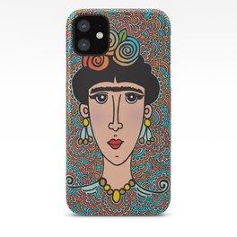 Flowery Frida iPhone Case