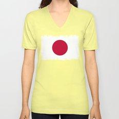 Japanese Flag Unisex V-Neck