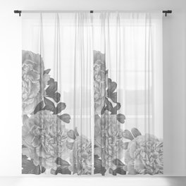 Flowers in the morning Sheer Curtain