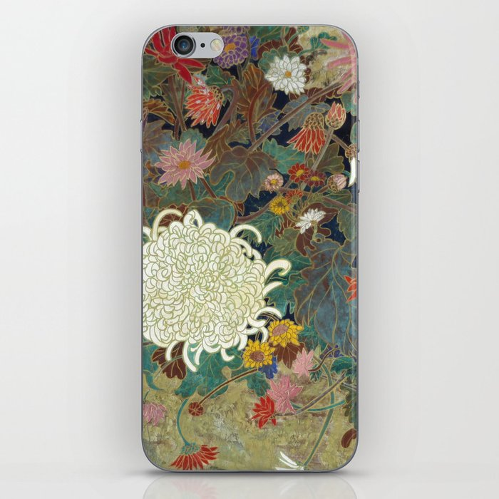 flower【Japanese painting】 iPhone Skin