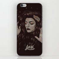 lorde iPhone & iPod Skins featuring Ella by Helen Green